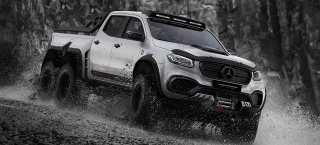 Mercedes-Benz Pickup Tuning: Six-Phantasie: Carlex Exy 6x6  auf Basis Mercedes X-Klasse