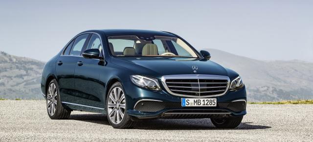 Sauberer gemacht: die neue Mercedes-Benz E-Klasse ...