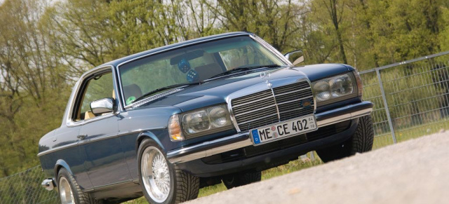 Mercedes Youngtimer in Style: Coupé mit Chic Faktor:  82er W123 Mercedes 230 CE Coupé