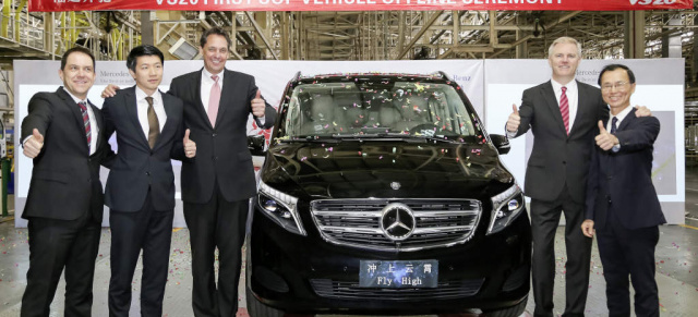 "V-Klasse:  Marktpremiere der Mercedes-Benz V-Klasse in China : Mit Markteintritt der V-Klasse in China ist ein weiterer Meilenstein für Wachstumsstrategie Mercedes-Benz ""Vans goes global"" gesetzt"