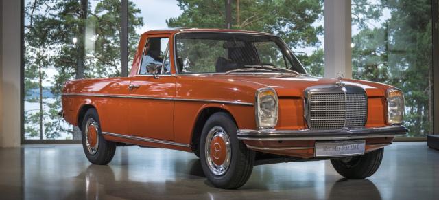 la pickup: 1972 mercedes-benz 220d strich-acht pick aus argentinien