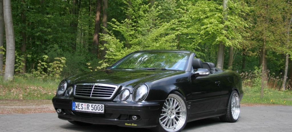 Black beauty mercedes tuning am offenen clk mercedes for Mercedes benz 430 clk
