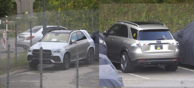 Mercedes-Benz Erlkönig: Star-Spy Shot: Mercedes-Benz GLE 2019 - fast ungetarnt