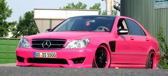 Kernig in Pink Mercedes Benz S55 AMG W220 Pink Lady Der S55 AMG