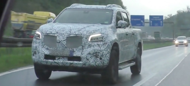 Mercedes-Benz Erlkönig erwischt: Spy Shot Video: Mercedes-Benz X-Klasse