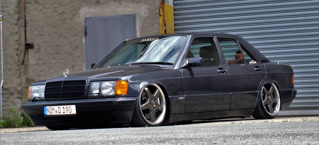 Let it low: 91er Mercedes-Benz 190 : Bagged Baby-Benz