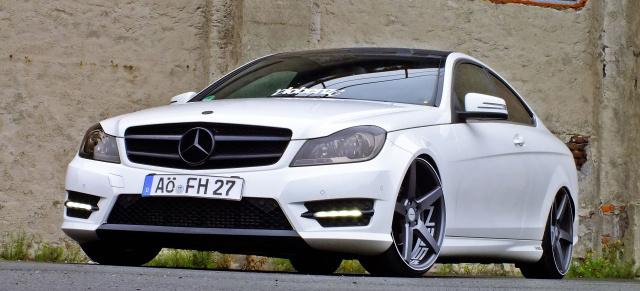 mercedes-benz c-klasse coupé c204 tuning: starke position: das 2011