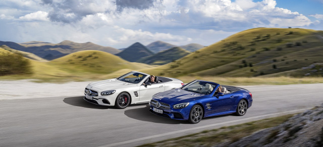 Der neue Mercedes-Benz SL: Ab 16. April on the road!: Der neue Mercedes-Benz SL kommt dynamischer denn je in Fahrt