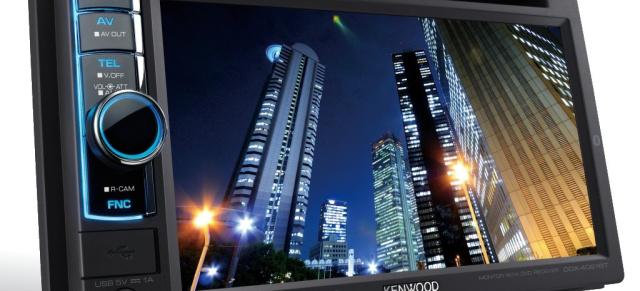 iPhone Navigation auf Doppel-DIN-Monitor: Neue Kenwood DVD Receiver