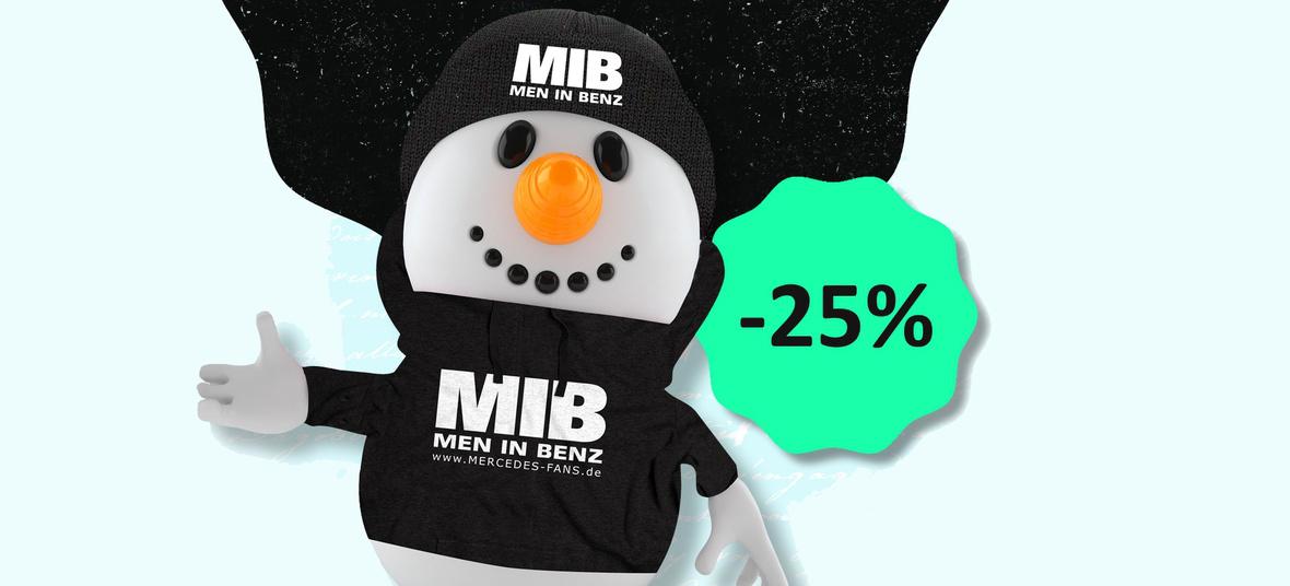 mercedes fan wear bis zu 25 winter sale im mib online. Black Bedroom Furniture Sets. Home Design Ideas