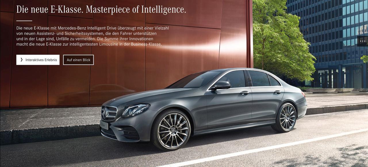 Mercedes Benz Sprinter >> Die neue E-Klasse. Ein Meisterwerk der Intelligenz: Mercedes-Benz startet 360°-Kampagne zur ...