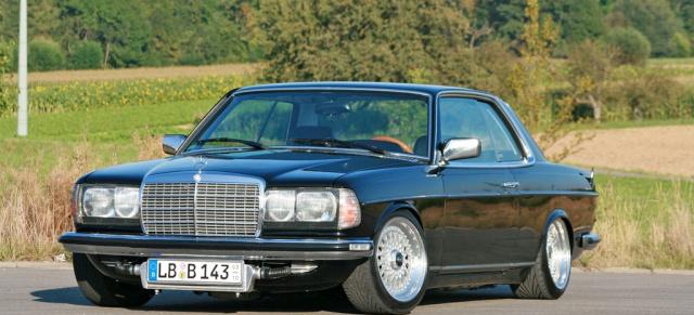 Elegantes Mercedes Youngtimer Coupe Eins Zwei Drei Meins
