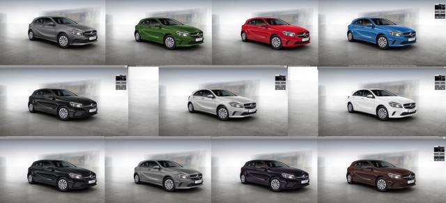 Top Elf: : Die neuen Farben der Mercedes-Benz A-Klasse ...