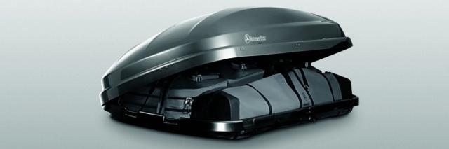 von mercedes benz gut bedacht dachbox 450 mit dem. Black Bedroom Furniture Sets. Home Design Ideas