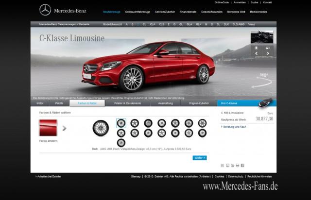 online konfigurator f r die neue mercedes c klasse mercedes benz konfigurator die neue. Black Bedroom Furniture Sets. Home Design Ideas