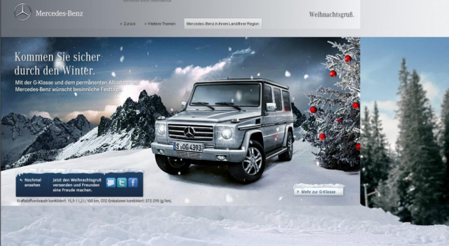 mercedes benz w nscht frohe weihnachten online. Black Bedroom Furniture Sets. Home Design Ideas