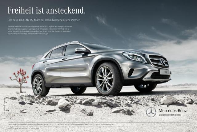 Kampagne Zur Markteinf 252 Hrung Des Neuen Mercedes Benz Gla