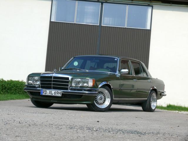 on Mercedes Benz 450sel 6 9